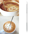 2PCS Stainless Steel Coffee Drawing Art Pen Barista Espresso Cappuccino Needle