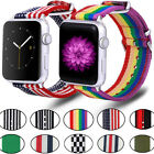 Rainbow Nylon Wrist Strap Apple Watch Band 44/38mm for iWatch Series 4/3/2/1 image
