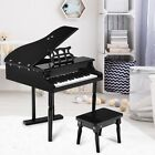 Schoenhut 30 Key Fancy Baby Grand Piano with Bench  Black And  Pink Kids Gift