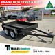 Watchers:393 8x5 STANDARD TANDEM BOX TRAILER | FIXED FRONT | BRAND NEW TYRES | SMOOTH FLOOR