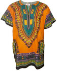 Orange African Unisex Dashiki Shirt, available in Small to 7XL Plus size