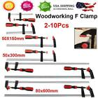 2/4Pcs Heavy Duty F Clamp Bar Clamp for Woodworking Wood Clamping Carpenter Tool