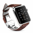For iWatch Apple Watch Series 4 3 2 1 42mm Leather Wrist Band Strap with Buckle image