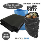 Extra Strong Heavy Duty Black or Blue Rubble Sacks High Strength Bags 30KG +