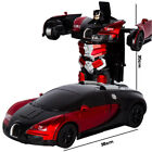 RC Cars Transformation Robot Car Toy Light Electric Robot Models Toys for Child*