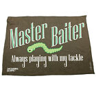 Fishing Funny Microfiber Hand Towel - Master Baiter Always Playing With My Tackl