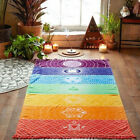 Внешний вид - Hot Rainbow Beach Mat Mandala Blanket Wall Hanging Tapestry Stripe Towel Yoga
