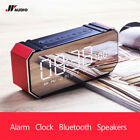 JY Audio F1 Portable Mini Bluetooth Speakers Smart LCD Screen Alarm Clock Radio