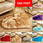 Kyпить Fluffy Heart Shaped Rug Shaggy Floor Soft Faux Fur Home Bedroom Carpet 40*50cm на еВаy.соm