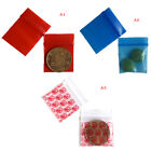 100 Bags clear 8ml small poly bagrecloseable bags plastic baggie VQ