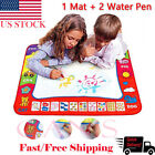 US Water Painting Drawing Writing Board Mat Magic Pen Doodle Toys Baby Kids Gift