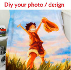 Personalized Custom Flannel Picture Text Photo Blanket Throws Bedroom Bed Gift image