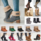 Kyпить Womens Winter Warm Snow Boots Ladies Block Heels Ankle Booties Martin Shoes Size на еВаy.соm