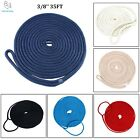 3/8'' 35FT Double Braid Nylon Dock Line Mooring Rope 6 Colors Alternative - ESA image