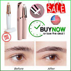 Flawless Women Brows Trimmer USB Electric Eyebrow Hair Removal Shaver with LED