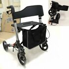 Lightweight Folding Rollator 4 Wheel Walker Walking Frame Disabled Aid W/ Basket
