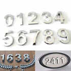 """3'' 2"""" Chrome Door Numbers House Numerals Home Self Adhesive Digit Plaques Sign"""