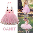 Kyпить US Infant Baby Girls Easter 3D Bunny Dress Party Outfit Princess Tulle Sundress на еВаy.соm