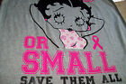 BETTY BOOP LONG T-SHIRT GRAY/PINK V-NECK PAJAMA S or M $19.95 USD on eBay