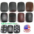Rear Passenger Seat Pillion Pad 6/8 Suction Cup for Harley Dyna Sportster Bobber