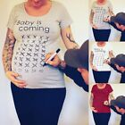 Soft Calendar Maternity Short Sleeve T-shirt Nursing Clothing Pregnancy Lady Top