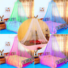 Mosquito Lace Bed Netting Mesh Canopy Princess Round Elegant Home Bedding Net image
