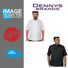 Dennys AFD white chefs Jacket with press studs DD08AFDE/ DD08AFDC