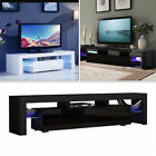 TV Cabinet Stand Entertainment Furniture Modern Shelf LED Light for Living Room