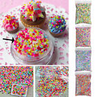 100g DIY Polymer Clay Colorful Fake Candy Sweet Sugar Sprinkles All Beauty UD image