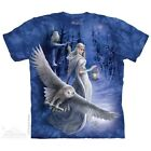 Midnight Messenger T-Shirt by The Mountain.  Fantasy Owl Fairy Sizes S-5X NEW image