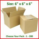 6x6x6 Cardboard Packing Mailing Gift Moving Shipping Boxes Corrugated Box Carton