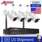 ANRAN WiFi Wireless Security 1080P Camera System with 8CH 1080P NVR Waterproof