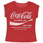Coca Cola Women's Drink 1886 Distressed Retro Roll Sleeve T-Shirt Official $6.51  on eBay