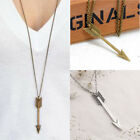 New Men's Women Fashion Necklace Jewelry Arrow Pendant Long Chain Necklace Gift