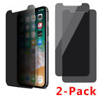 2-PCS For iPhone X XS XR XS Max Privacy Anti-Spy Tempered Glass Screen Protector