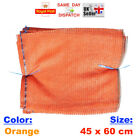 20x - 45x60cm ORANGE NET SACK BAGS MESH FRUITS VEGETABLES WOOD CARROT POTAT FAST