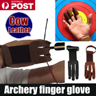 Archery Protect Glove 3 Fingers Pull Bow arrow Leather Shooting Gloves T387