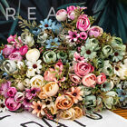 12 Heads Artificial Flowers Silk Camellia Daisy Wedding Bouquet Home Party Decor