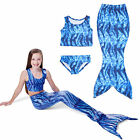 Kids Girls Swimmable Mermaid Beach Costume Swimwear Bikini Set Monokini Swimsuit