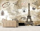 3D Map Eiffel Tower 11 Wall Paper Exclusive MXY Wallpaper Mural Decal Indoor