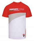 Ducati Corse Team MotoGP Mens T Shirt Red/White with Logos 100% Cotton 1836003