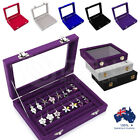 Velvet Ring Earring Jewelry Display Organizer Box Holder Storage Case Hanger