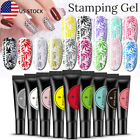 8ML BORN PRETTY Nail Stamping UV Gel Polish Black White Silver Nails Tools