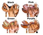 Used Barrel Saddle 14 15 16 Leather Trail Racing Racer Show Western Horse Tack