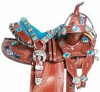 "Western Horse Saddle-Barrel Trail Youth-Kids Leather 12"" 13 Pro With Tack Set"