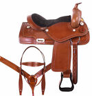 Used 16 Ranch Saddle 15 17 18 Beatiful Leather Trail Riding Western Horse Tack
