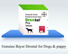 Bayers Drontal Plus Dewormer, Roundworm and Tapewormer For Dog 4-16 Tablets