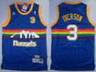 New Men's Denver Nuggets #3 Allen Iverson Retro Basketball Blue Jersey S - XXL on eBay