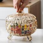 Crystal Field-glasses Candy Jar Living Room Dried Fruit Plate With Lid Home Decoration