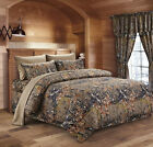 WOODLAND 7PC SET WOODS CAMO COMFORTER SHEET SET CAMOUFLAGE BED SET BEDDING image